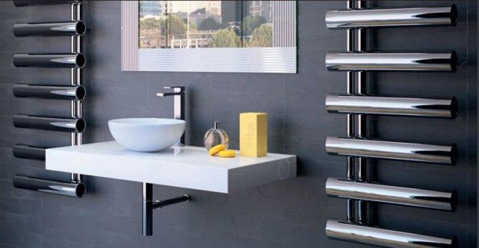 полотенцесушители - элемент интерьера ванной комнаты