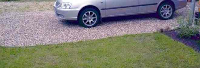 площадка для автомобиля на даче